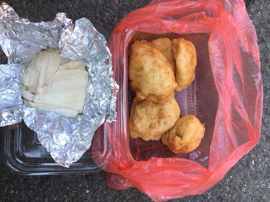 Was wir nicht aufessen konnte, gibts als Lunchpaket oben drauf.