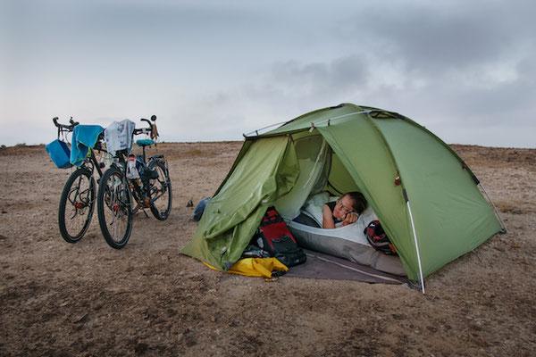 Campen im Oman