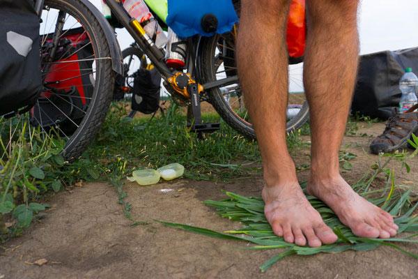 Duschmatten á la Reini - damit die Füße nicht so dreckig werden ;)