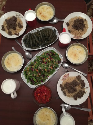 Mmmhhh! Türkisches Essen nach einem langen Radeltag. Was gibt es besseres?