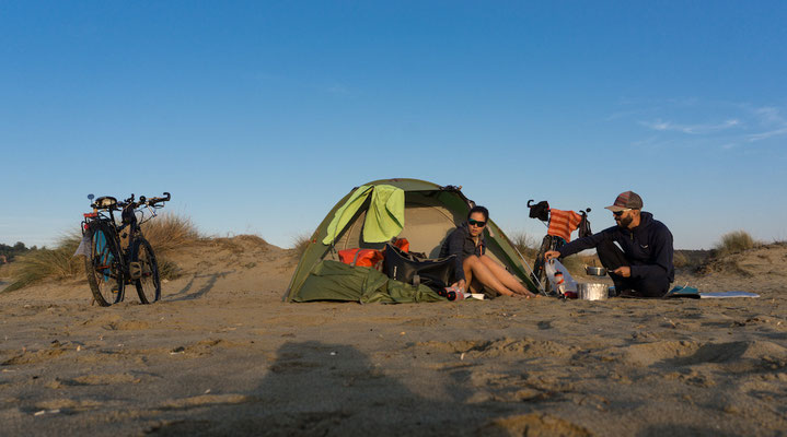 Wildcampen am Strand