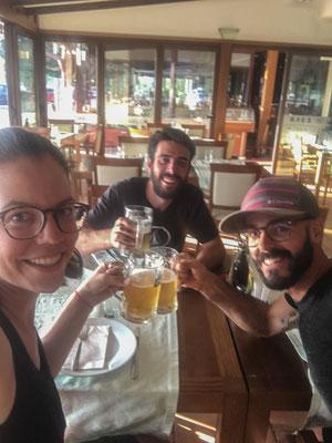 Abendessen in Ohrid mit Javier.