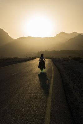 Und dann gleich dieser Sonnenuntergang in einem einsamen Wadi!