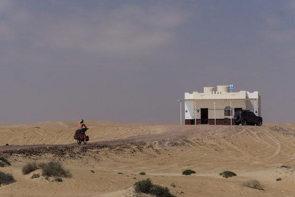 Öffentliche Toiletten mitten im Nirgendwo. So was gibts nur im Oman!