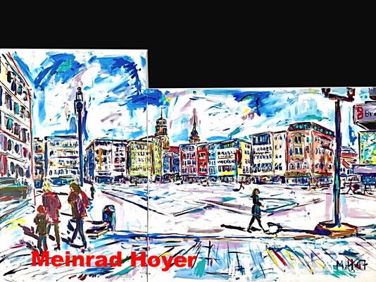 Am Marktplatz/ 2 Leinwände/ insgesamt 200 cm x 120 cm