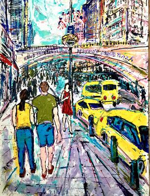 NY - Am Grand Central Terminal/ Acryl auf Leinwand/ 240 cm x 160 cm