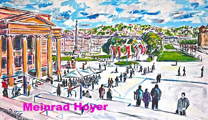 Blick auf den Schlossplatz/ Acryl auf Leinwand/ 150 cm x 100 cm