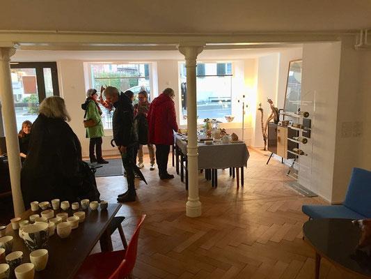 Impressionen - Vernissage 2019 - Stadtstube Popup Wohngalerie in Männedorf vom 26. Januar 2019 mit Markus Bhend Bhend Kunstausholz
