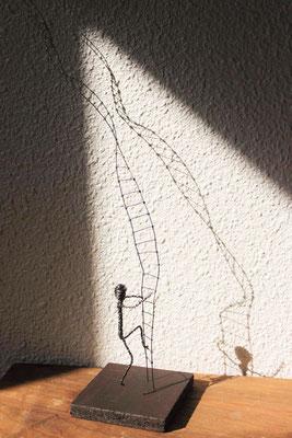 Gravitation - Série Humains fragiles humains - 2015 - 30x14 (vendu)