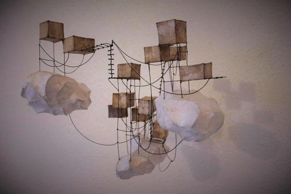 Les 3 nuages - Série Village - 2015 - 25x25