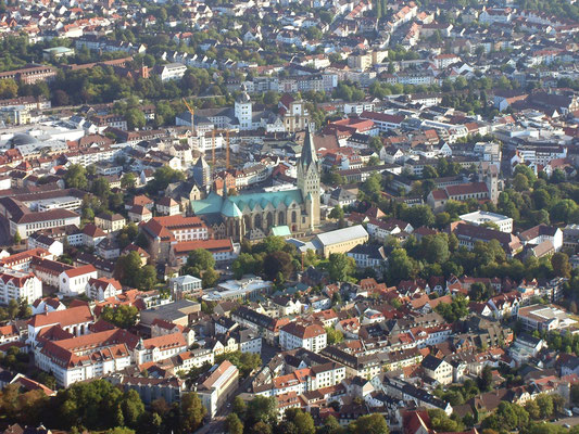 Blick auf den Paderborner Dom