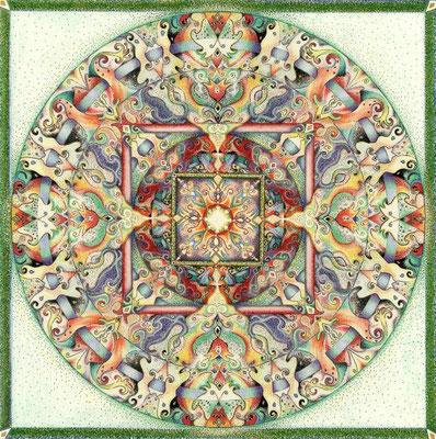 """Flourishing"" - Farbstifte, Pitt artist pens - wird veröffentlicht in: ""Incite 4, the Best of mixed-media"", 2016"