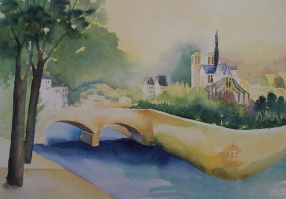 Brigitte Weiand Aquarellbild Paris