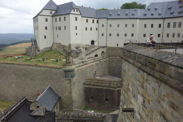 Festung Königstein auf dem Tafelberg