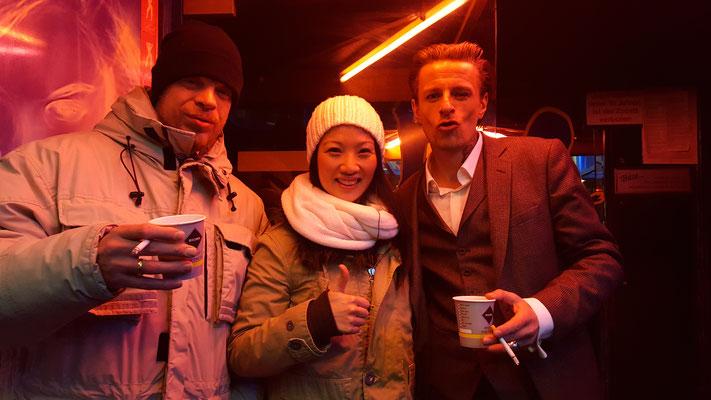 Sascha Reimann (links) Aimee Nhung Le (mitte) Alexander Scheer (rechts)