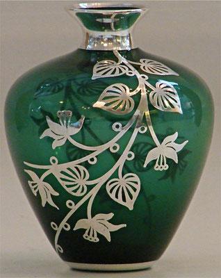 Vase WMF, 999 Silberauflage. Hersteller: Friedrich Wilhelm Spahr, ca. Anfang der 30er Jahre!