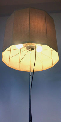 Edelstahl, Lampenschirm aus Baumwolle!