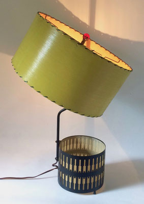 The upper lampshade can be tilted!