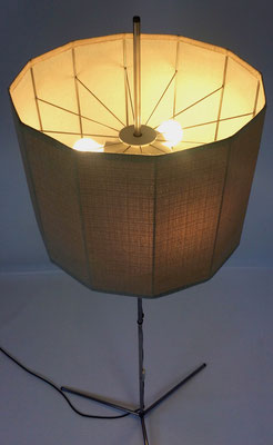 Stainless steel, cotton lampshade!