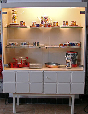 Highboard, Vitrine 60s. SOLD