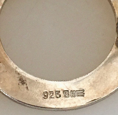 Dimensions: diameter approx. 2.5 cm. See the 830 silver mark and the manufacturer's mark!