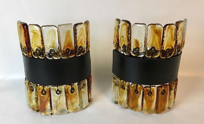 Hergestellt aus Eisen und mundgeblasenen Glas, handgefertigt!