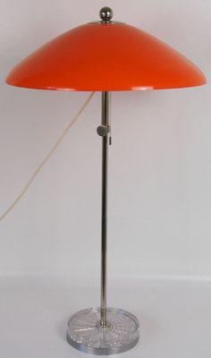 Material: Kunstoff, Metall verchromt, Fuss mit Plexiglasauflage, in der Höhe einstellbar von 68 cm bis 90 cm!