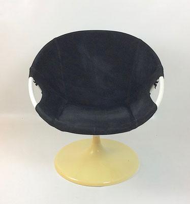 Leder schwarz, mit drehbaren Tulip Fuß!