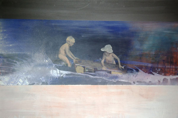 Sommer in Gaujac  (100x150cm / Acryl auf Leinwand)
