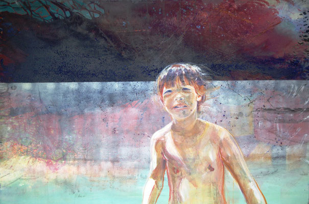 Kindheit (100x150cm / Acryl auf Leinwand)