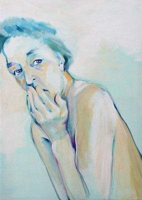 """""""Ohne Krone"""", Acryl auf Leinwand - 100 x 70 cm"""
