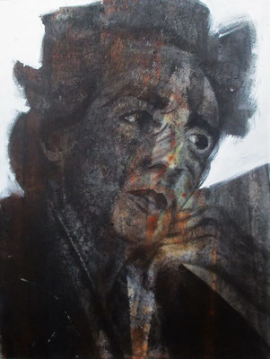 Portrait E. Meurer - 75x60cm, Acryl auf Leinwand