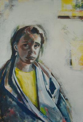 Luisa L. - 120x80cm, Acryl auf Leinwand