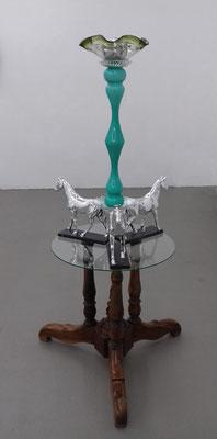 Tripod - 17 - Holz, Glas, Kunststoff, Metall, Keramik - 159 x d 79