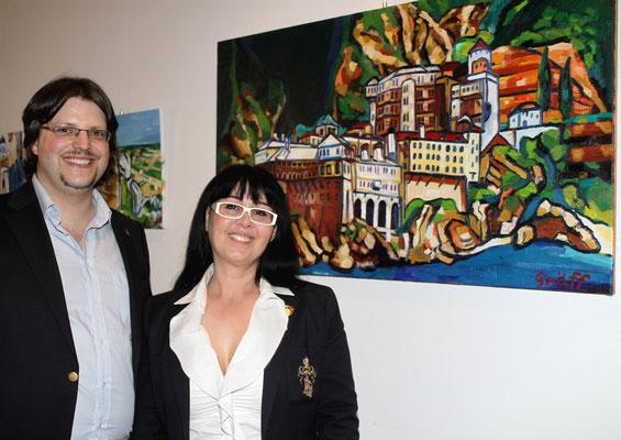 Matthias Laurenz Gräff und Georgia Kazantzidu. Foto Martin Kalchhauser / NÖN Horn