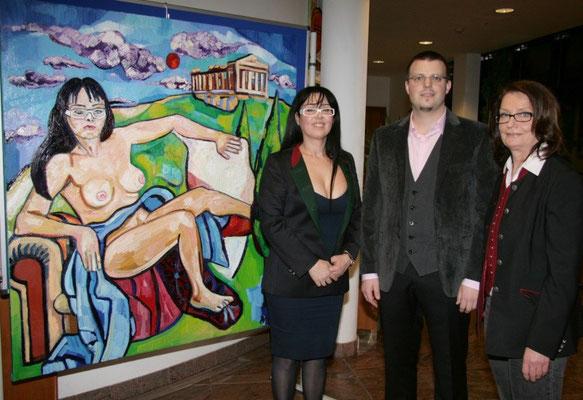 Georgia Kazantzidu, Matthias Laurenz Gräff und Brigitta Letitzki. Foto Martin Kalchhauser NÖN Horn