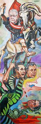 """Matthias Laurenz Gräff, Allegorie auf Alexander van der Bellen und Norbert Hofer bei der Bundespräsidentenwahl"""""""", Werkzustand VI"""