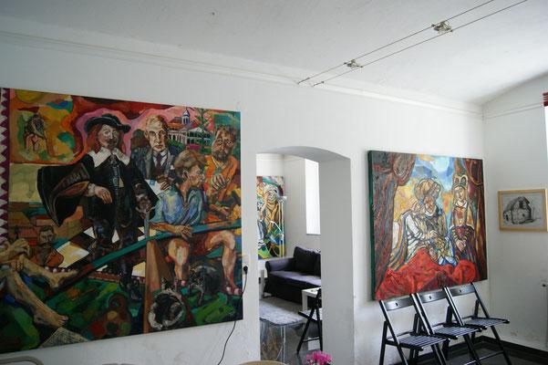 Matthias Laurenz Gräff, Galerieimpression Gars am Kamp