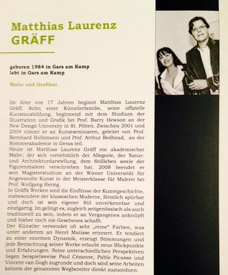 """Ausstellungskatalog """"Kunst im Murtal"""", Matthias Laurenz Gräff"""