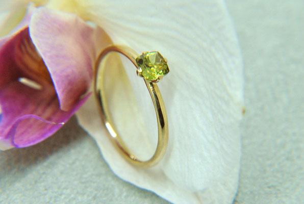 Ring Peridot 585/- Gelbgold