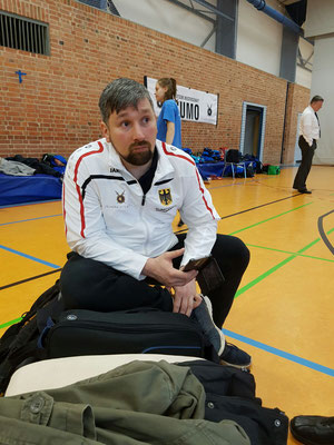 Jörg Frischmann von Motor Babelsberg / Königs-Wusterhausen zeigte im Dohyo ein begeisterndes Sumo