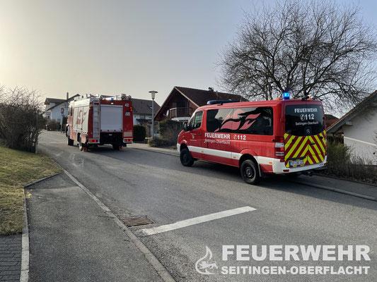 Fahrzeugpositionierung der Feuerwehr Seitingen-Oberflacht