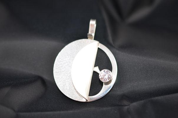 Edelsmid Wilma van den Hoek Hanger (zilver/zirkonia)