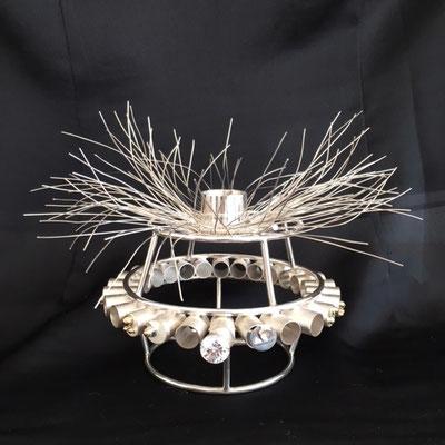 Edelsmid Wilma van den Hoek Armband/kandelaar (zilver/goud)