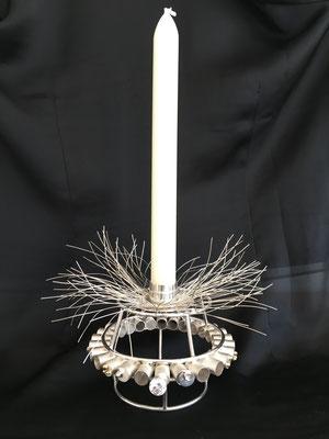 Edelsmid Wilma van den Hoek Armband/ Kandelaar (zilver/goud)