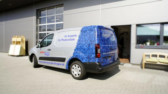 Elektro Klingele Werbevollfolierung, Carwrapping, Peugeot Partner