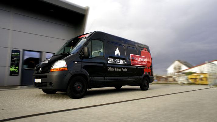 Weber und Grill on Fire Werbevollfolierung, Carwrapping, Renault Master