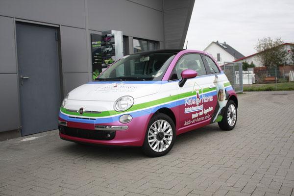 Kids@Home Werbevollfolierung, Carwrapping, Fiat 500