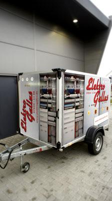 Elektro Gallus Werbevollfolierung, Carwrapping,  Humbauer Anhänger