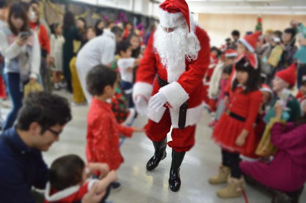 サンタさんを帰ります